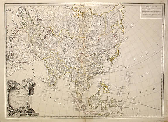 Map of Asia, 1784